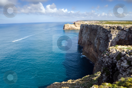 End of the world stock photo, The cliffs at Cape Saint Vincent, near Sagres, Portugal, historically known as the 'end of the world' by Kevin Woodrow