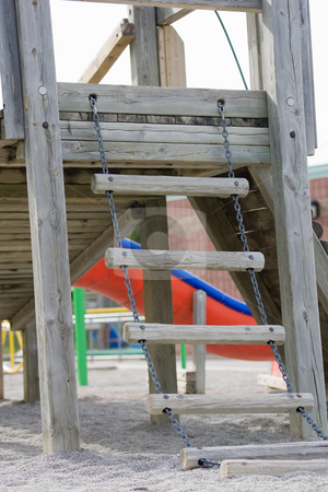 Childrens school playground stock photo, An empty school playground. by Kevin Woodrow