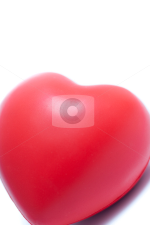 Red Heart stock photo, A red valentines day heart, isolated on white. by Kevin Woodrow