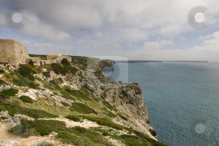 Fortaleza de Beliche stock photo, Near Cape Saint Vincent in the Algarve, the Fortaleza de Beliche overlooks the Atlantic Ocean.  Portugal. by Kevin Woodrow