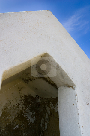 Guard shelter stock photo, A guard shelter on one of the fort walls, at the Fortaleza de Sagres, Portugal. by Kevin Woodrow
