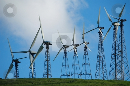 Wind turbines stock photo, Wind turbines by Gregory Dean