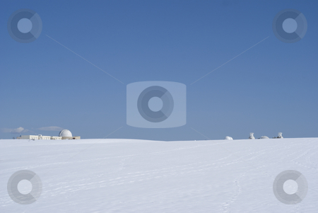 Observatory  stock photo, Observatory site of Calern in winter (french riviera). by Serge VILLA