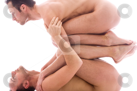 Looking up both stock photo, Artistic nude forms with 2 powerfull men by Frenk and Danielle Kaufmann