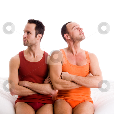 Home couple looks up stock photo, An insight into a happy homo couples relationship by Frenk and Danielle Kaufmann
