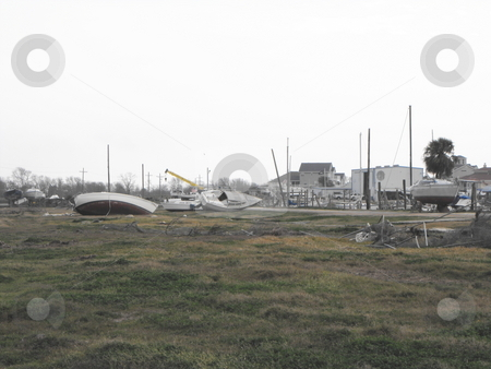 Deystroyed marina stock photo, A marina was destroyed after Hurricane Ike hit Pleasure Island, Port Arthur, Texas by Robert Brown