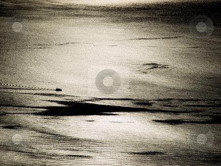 In front of the Sun stock photo, View of the open sea under the  Sun by Sinisa Botas
