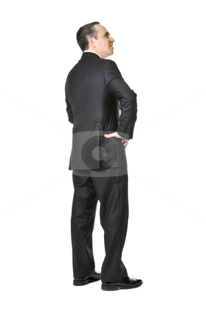 Businessman on white background stock photo, Happy businessman in a suit isolated on white background by Elena Elisseeva