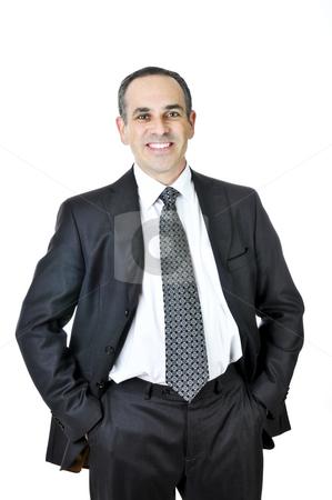 Businessman on white background stock photo, Businessman in a suit isolated on white background by Elena Elisseeva