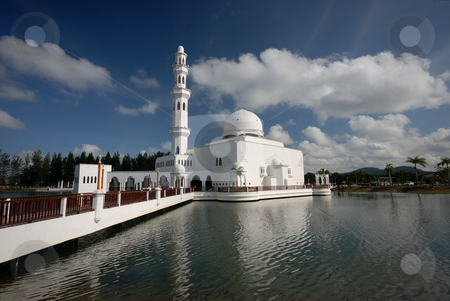 Mosque stock photo, Floating Mosque by Jaggat Images
