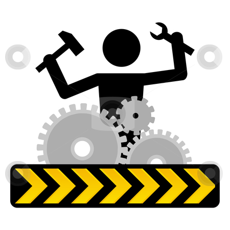Under construction stock vector clipart, Under construction icon by Paul Turner
