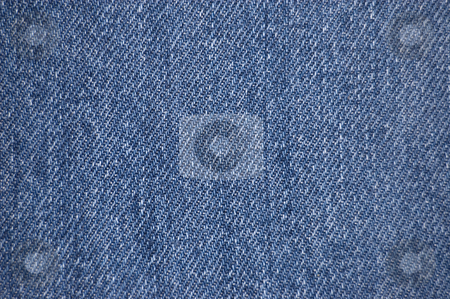 Denim fabric texture stock photo, Distressed blue denim fabric texture by Peter Cox
