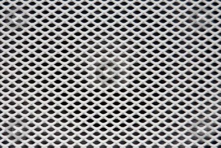 Speaker Grille stock photo, White painted speaker grille with criss-cross design by Peter Cox