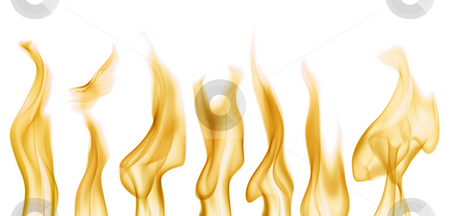 Flames stock photo, Collecting of flames over white background. Easy to use in you own designs by Tommy Maenhout