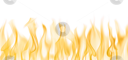 Flames stock photo, Background image of flames over white by Tommy Maenhout