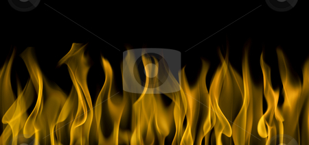 Flames stock photo, Background image of flames over black by Tommy Maenhout