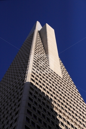 Large Office Building Profile stock photo, Architectural buildings of large city in a down town area, office locations by Richard Clack