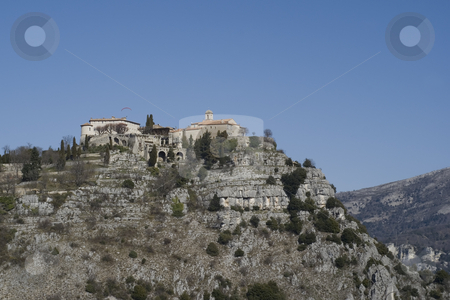 On the top stock photo, French village of Gourdon, located in french riviera.  Location  : 43? by Serge VILLA