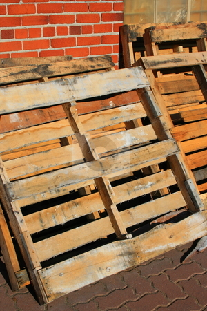 Wooden Pallets stock photo,  by Michael Felix