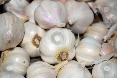 Garlic Bulbs stock photo, Garlic bulbs close up of fresh garlic raw garlic bulbs by Tudor Antonel adrian