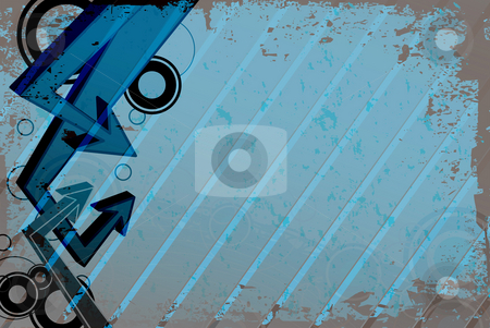 Funky Arrows Layout stock photo, A funky urban layout with graffiti style arrows.  This works great as an advertisement template. by Todd Arena