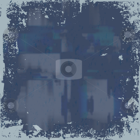 Blue Grunge Background stock photo, A worn looking grunge background in a blue tone. by Todd Arena