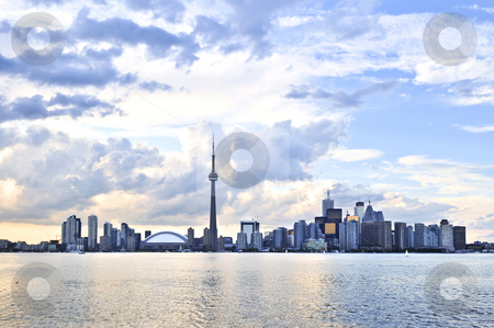 Toronto skyline stock photo, Toronto city waterfront skyline in late afternoon by Elena Elisseeva