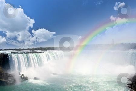 Rainbows at Niagara Falls stock photo, Spectacular rainbows at Canadian side of Niagara Falls by Elena Elisseeva