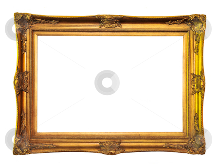 Empty picture frame stock photo, Empty picture frame isolated on white background by Elena Elisseeva