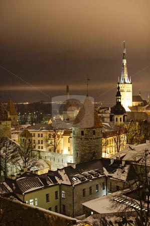Night view of Tallinn stock photo, Night view of Tallinn by Andrea Bronzini