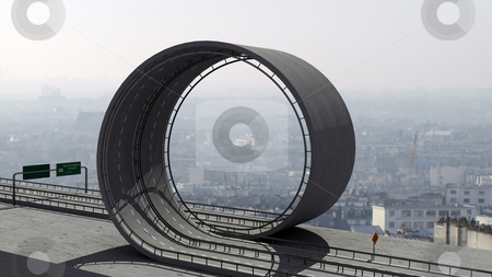 Freeway loop stock photo, A freeway with a loop by Magnus Johansson