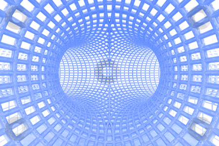 Tunnel stock photo, Abstract futuristic background by Magnus Johansson