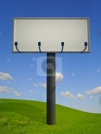 Billboard stock photo, A big billboard on the countryside by Magnus Johansson