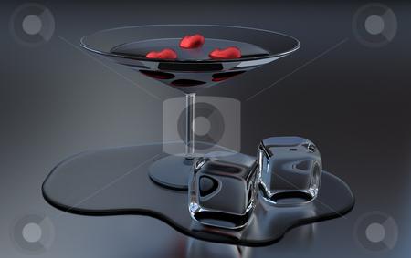 Valentine cocktail stock photo, 3D rendered valentine cocktail on metallic surface by Magnus Johansson
