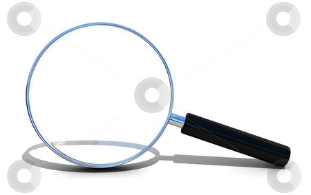 Magnifying glass stock photo, Magnifying glass isolated over white by Magnus Johansson