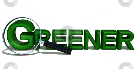 Greener stock photo, Magnifyingglass in environmental concept by Magnus Johansson