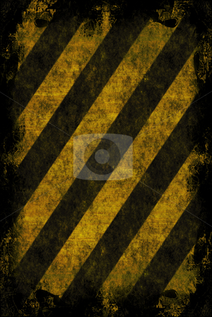 Grunge Hazard Stripes stock photo, A hazard stripes texture with extreme grunge effects. by Todd Arena