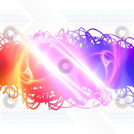 Shiny Rainbow Scribbles- rainbow paint splatter stock photo, Rainbow colored abstract scribbles isolated over white. by Todd Arena