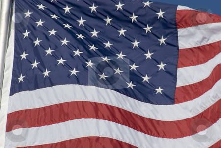 Star Spangled Banner stock photo, The American national flag blowing in the breeze by Stephen Gibson