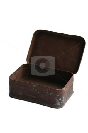 Rusty box stock photo, Empty rusty box on a white background by Aleksandr GAvrilov