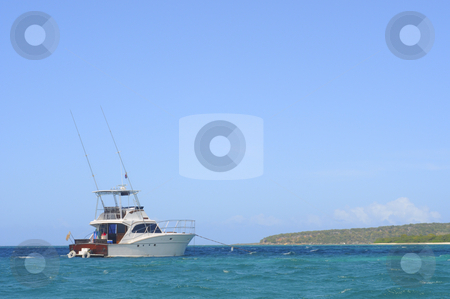 Tropic fishing boat stock photo, Fishingboat in tropic water by Magnus Johansson