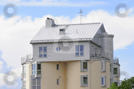 Space house stock photo, Different house and appartments built within and on top of old watertanks by Magnus Johansson