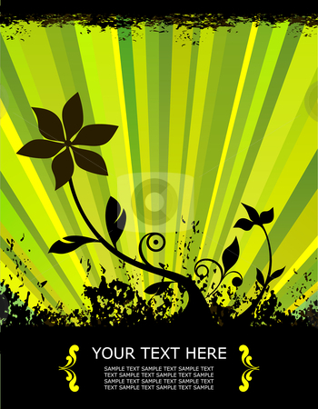 Green spring flower stock vector clipart,  by Paul Turner