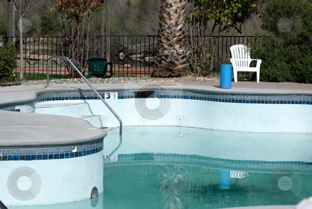 Half Empty Pool stock photo, Half empty swimming pool by Randy Miramontez