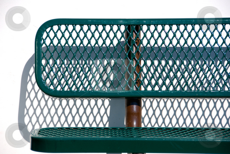 Park Bench stock photo, Green bus, or park bench by Randy Miramontez