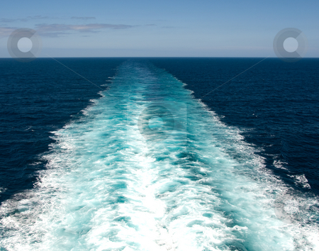Wake from Cruise Ship stock photo, Wake from cruise ship by Randy Miramontez