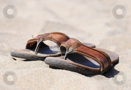 Flip flops stock photo, Quality leather sandals by Magnus Johansson