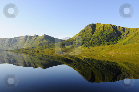 Mirror lake stock photo, Mountain lake in Norway by Magnus Johansson