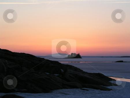 Winter Sunset stock photo, Winter Sunset by Ingvar Bjork