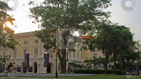 Street szene in Singapore stock photo, Street szene in Singapore;photographed in October 2008 by Manuela Schueler